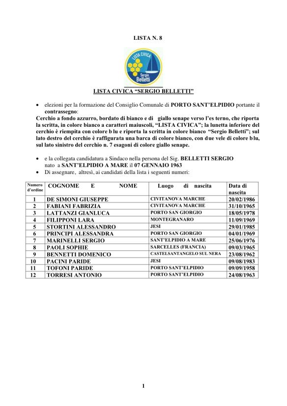 Lista Sergio