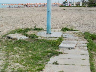"""La situazione della passerella in zona """"Quadrata"""" prima di sabato 28 giugno"""