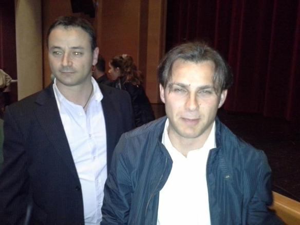 L'ex consigliere Andrea Putzu ed il neo consigliere Antonesio Diomedi